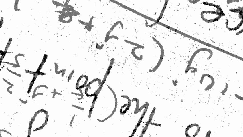 Math And Science Blackboard Scribbling Stock Footage Video