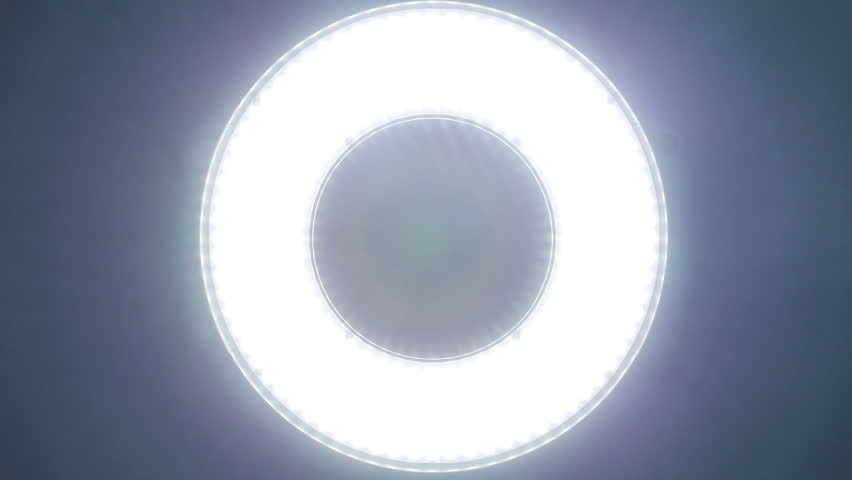 Circle Led Panel With Different Stock Footage Video 100