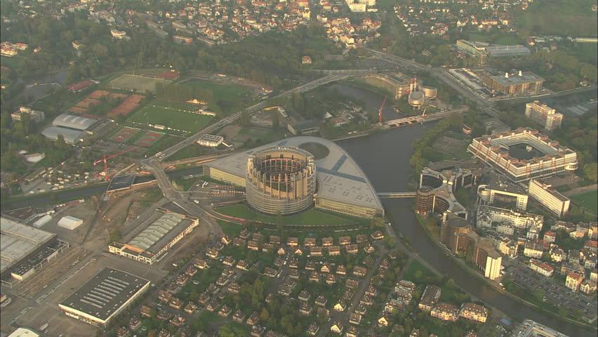 AERIAL France-European Parliament 2006: Parliament building in Strasbourg