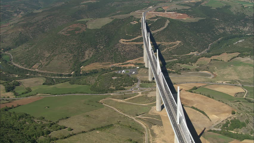 AERIAL France-Millau Viaduct 2006: Millau bridge | Shutterstock HD Video #10044227