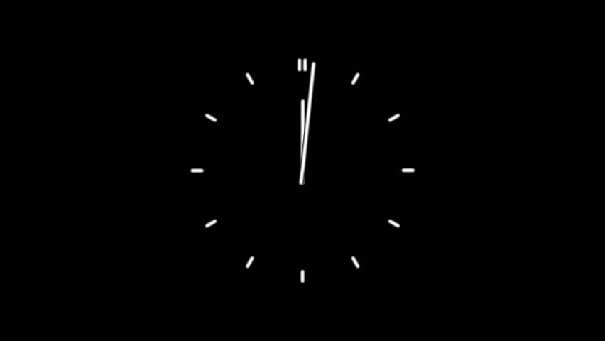 Clock time lapse full HD (1920x1080 24s 30Fps) #10048085