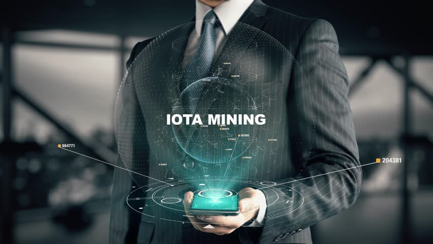 Businessman with IOTA mining 2