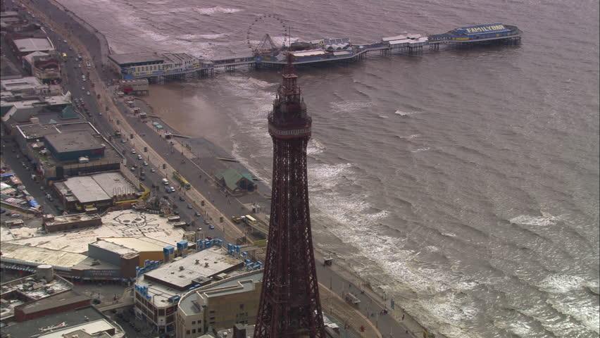 AERIAL United Kingdom-Blackpool Tower 2005: North Pier, Blackpool