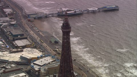 AERIAL United Kingdom-Blackpool Tower 2005: North Pier, Blackpool