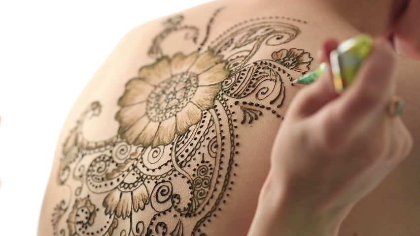 Mehndi Henna Hd : Mehendi creating beautiful patterns with henna stock footage