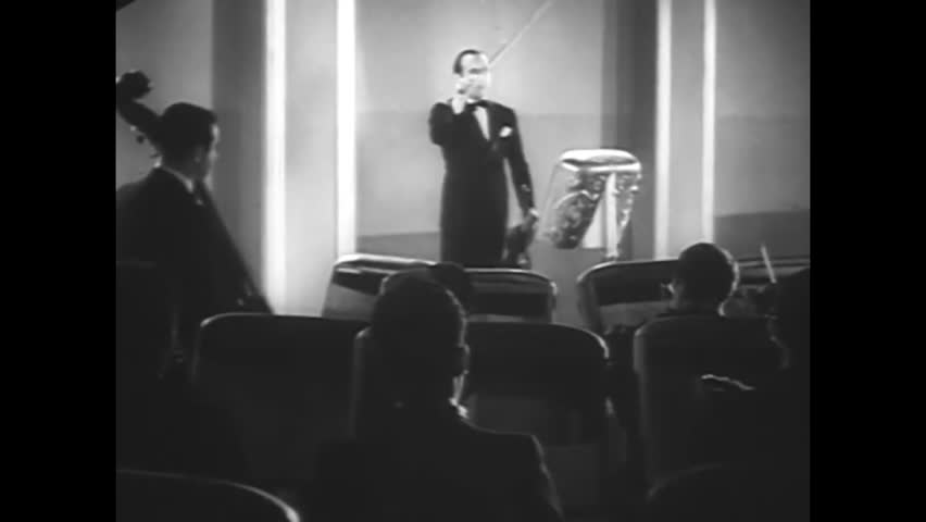 CIRCA - 1933 - Rubinoff and his orchestra perform the soundtrack for Betty Boop.