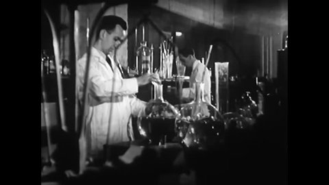 CIRCA 1944 - The production of plastics increased exponentially during WWII as it was used in most equipment and machinery.