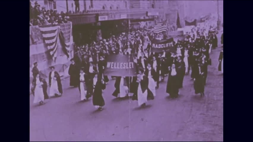 CIRCA 1976 - Photographs trace the history of the American suffragette movement.