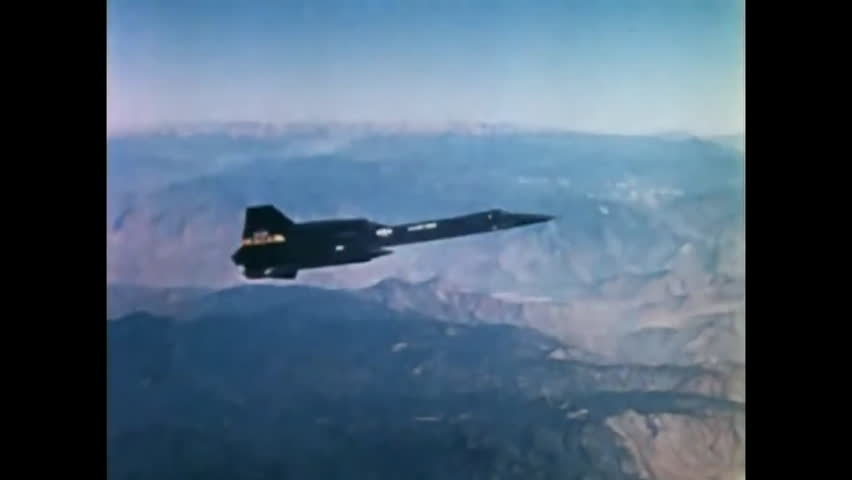 CIRCA 1974 - As a Lockheed YF-12 is seen in flight, a narrator describes the relationships between its speed, altitude and temperature.