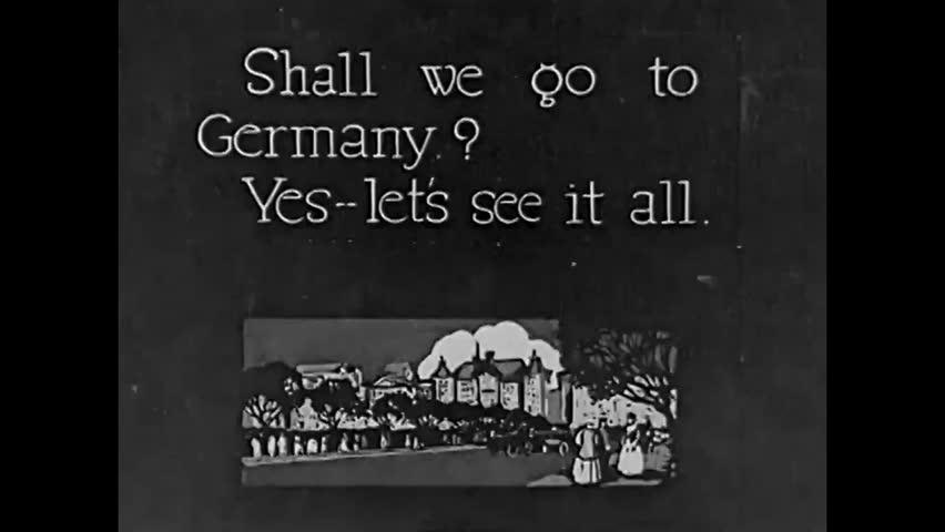 CIRCA 1923 - The Unter den Linden and Brandenburg Gate in Berlin, Germany.