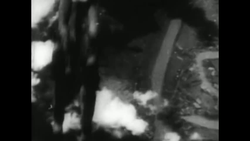 CIRCA 1944 - The 21st Bomber Command bombs Tokyo, Japan in World War 2.
