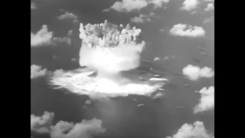 CIRCA 1950s - Atomic bomb blast on Bikini Atoll in 1946.