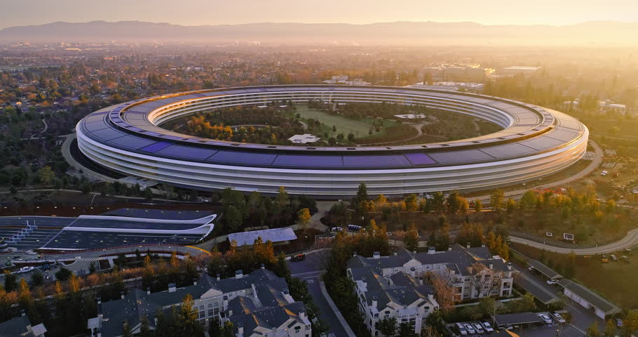 Aerial Drone of Apple Campus Stock Footage Video (100% Royalty-free)  1006760095 | Shutterstock
