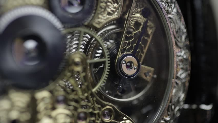 The balance of the watch is close-up with sound | Shutterstock HD Video #1006769305