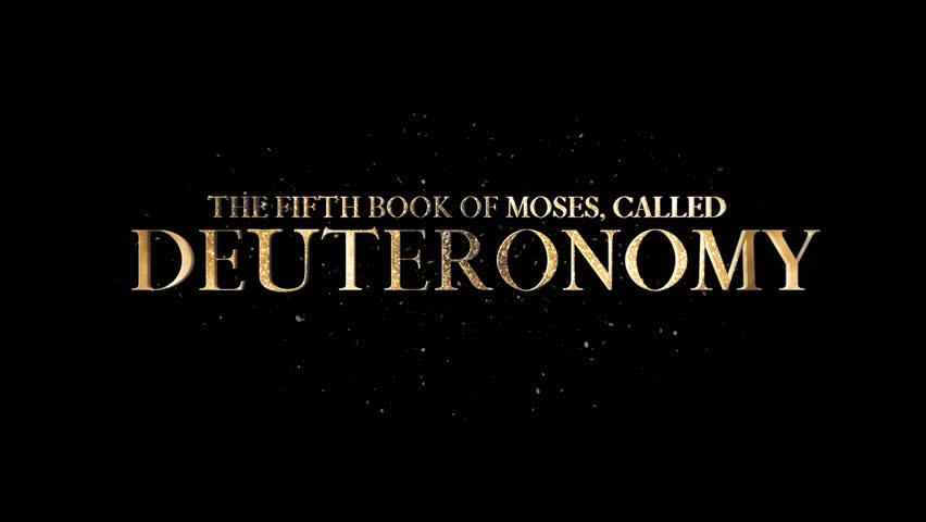 Header of Deuteronomy