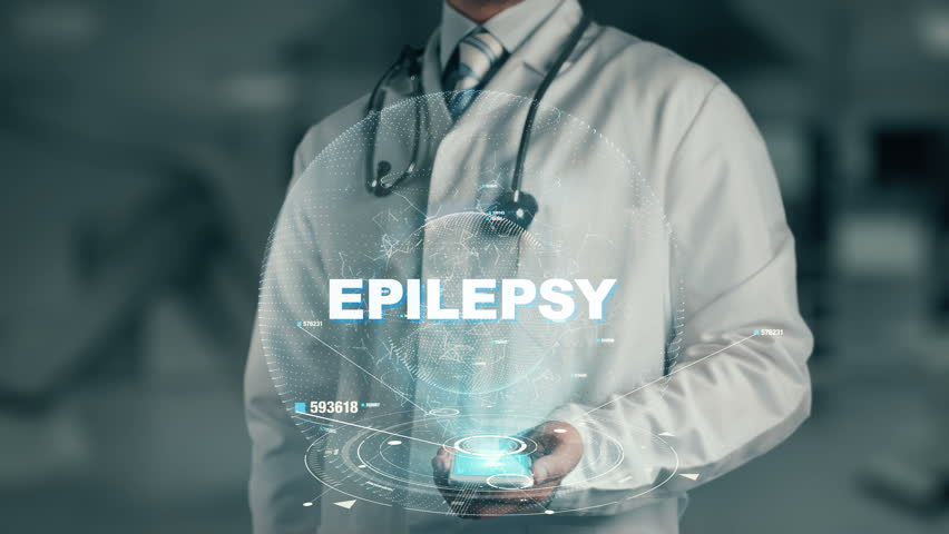 Doctor holding in hand Epilepsy
