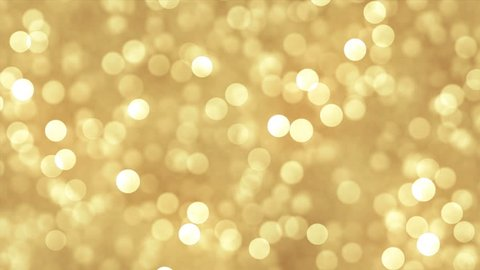 Abstrat gold background with glitter particles. Seamless loop.