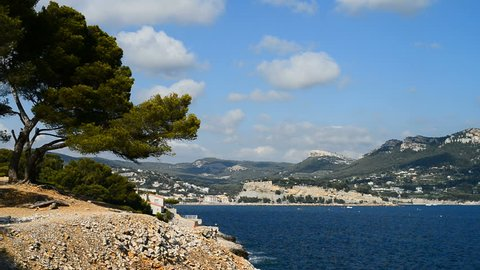 Landscape near of the Cassis, French Riviera, France, Europe.
