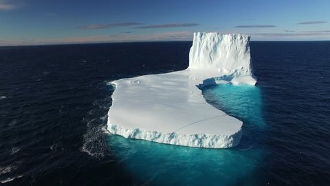 Iceberg Floating in Bellot Strait Northwest Passage shot with Drone