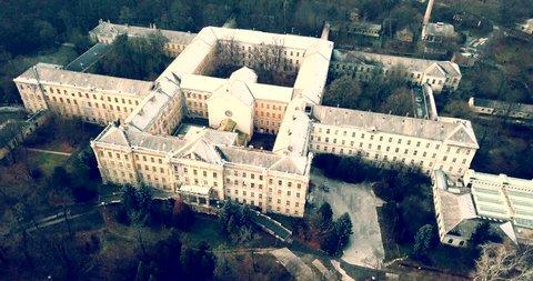 Spooky abandoned psychiatric hospital