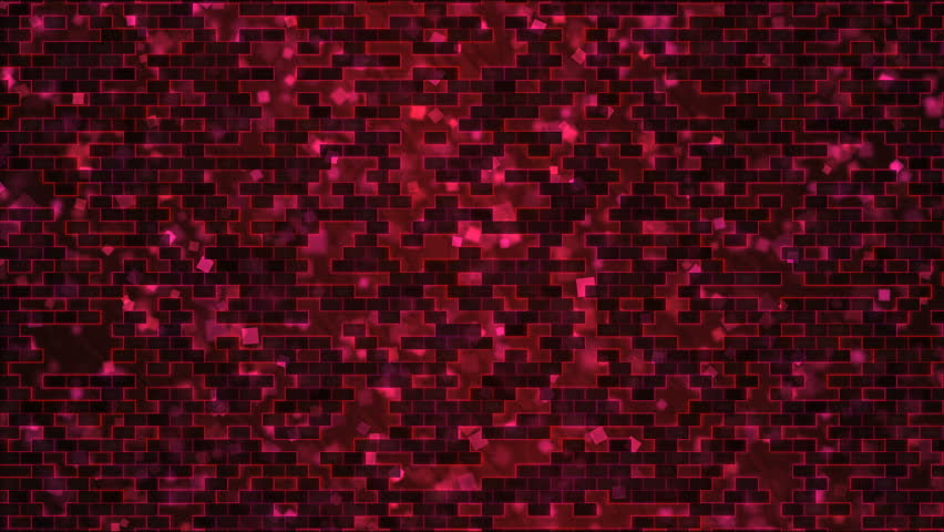 Scrolling Rectangle Bricks Background Animation - Loop Pink Red | Shutterstock HD Video #1007105605