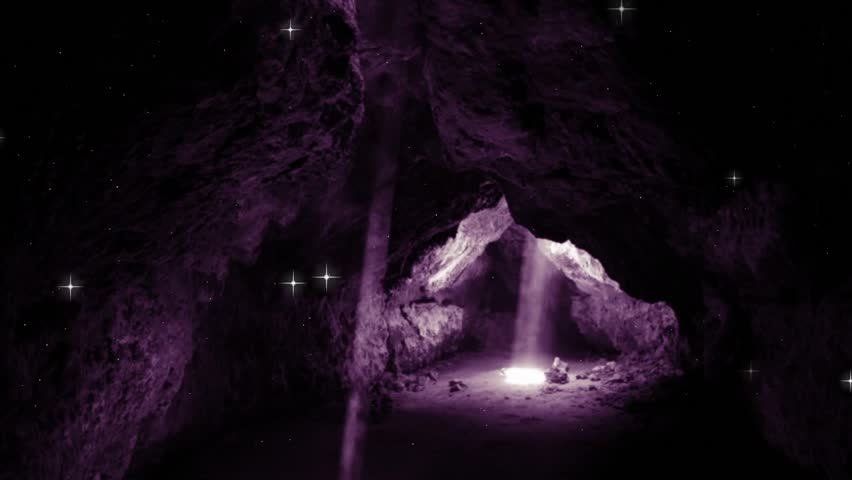 Empty Cave: Easter Resurrection Open Tomb Background