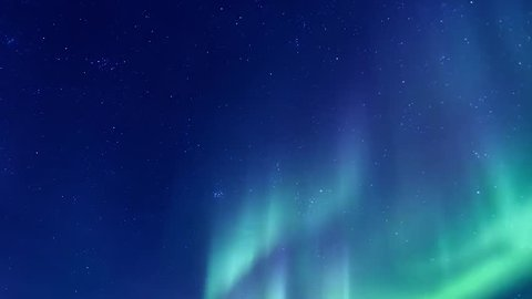 Northern Lights on the Arctic sky, aurora borealis, nive clear weather, colour skies in horizon. Northern lights (Aurora Borealis). FHD.