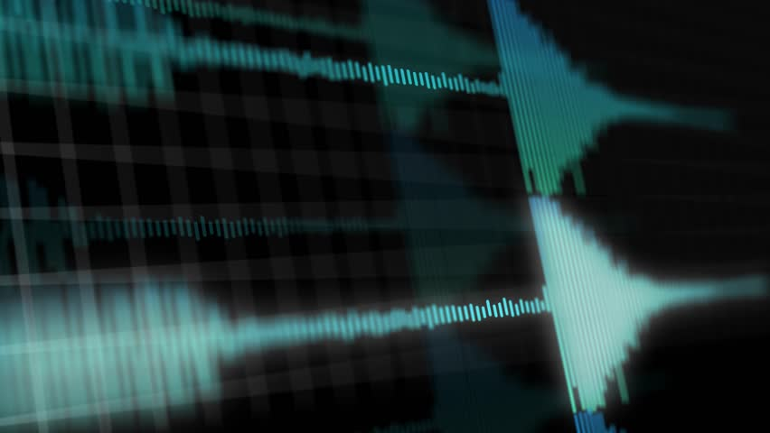 Synchronized Audio Waveforms or spectrum playing Simultaneously - Blue Version