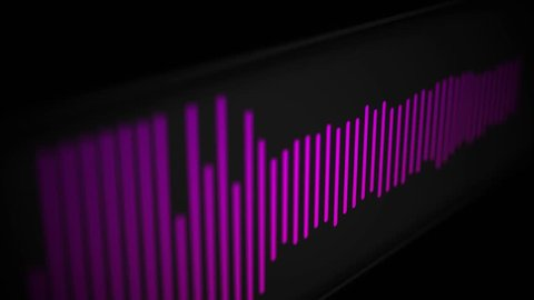 Camera pans over modern cool sleek audio spectrum or waveform of a song - Pink Version