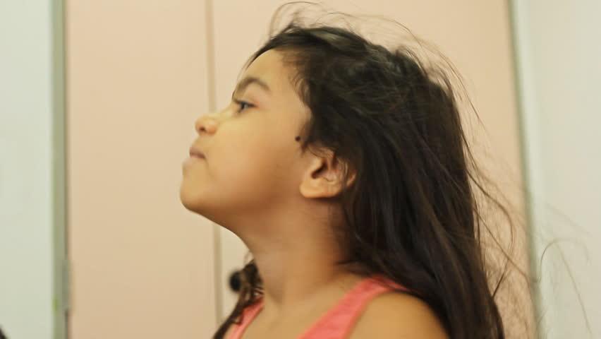 Polio Oral vaccine given to a girl health care