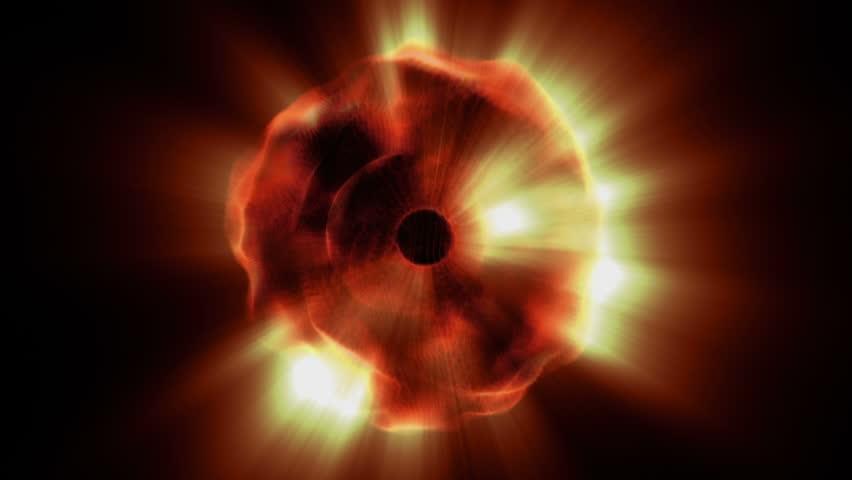 An orb of golden light shines (Loop).   Shutterstock HD Video #1007536855