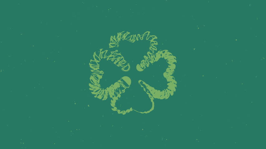St. Patrick's stop motion animated clovers  | Shutterstock HD Video #1007585395
