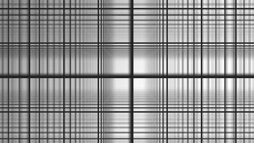 Geometric spiral with white squares abstract movement white background. Black and white composition of bands. Kaleidoscope. Black and White Glitch Core.