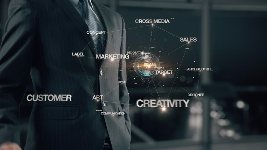 Businessman with Advertising   Shutterstock HD Video #1007623975