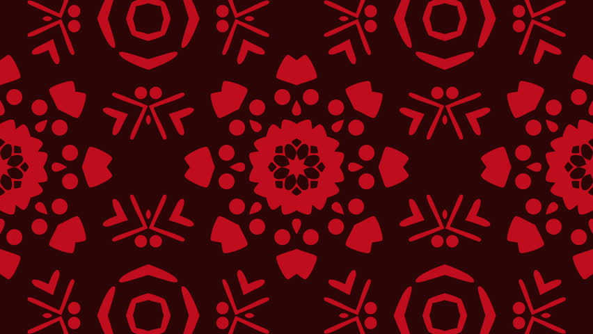 Red kaleidoscope sequence patterns , 4k Abstract multicolored motion graphics background for music videos, VJ, DJ, stage, LED screens, show, events, christmas videos, festivals, night clubs.  | Shutterstock HD Video #1007703055