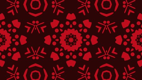 Red kaleidoscope sequence patterns , 4k Abstract multicolored motion graphics background for music videos, VJ, DJ, stage, LED screens, show, events, christmas videos, festivals, night clubs.