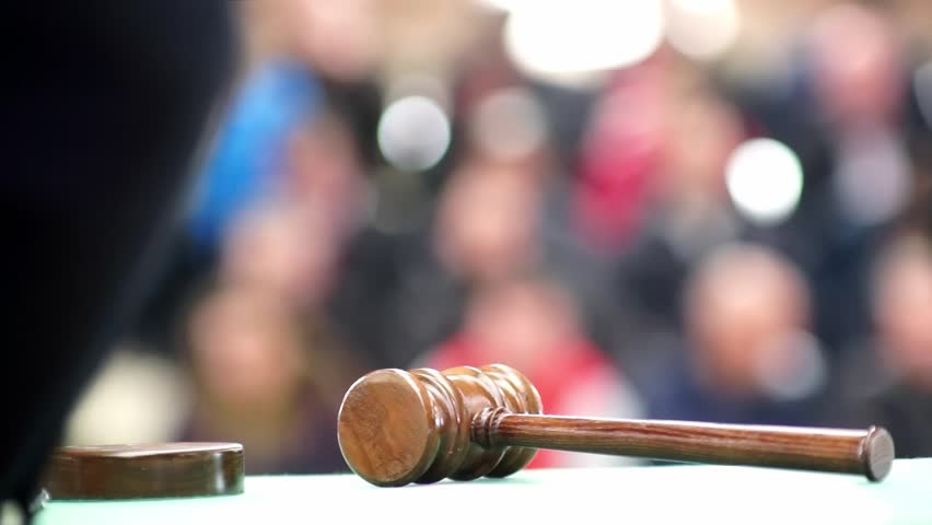 Auction bid sale judgment mallet gavel , video hd 1920x1080 | Shutterstock HD Video #1007715649