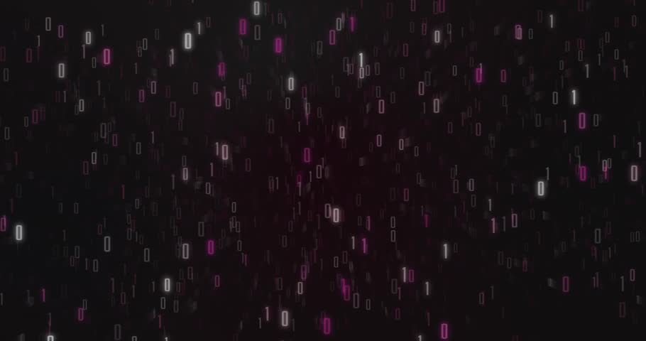 Computer matrix symbols count universe loop pink | Shutterstock HD Video #1007718085