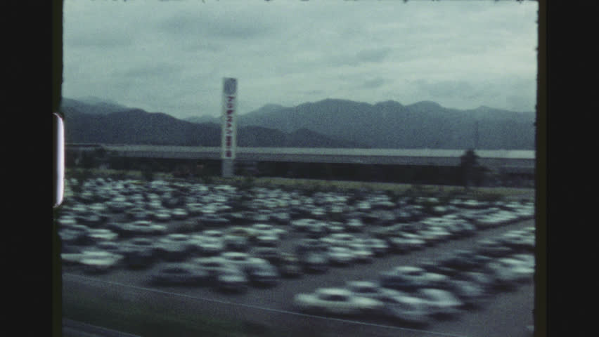 JAPAN, APRIL 1978. Traveling By Train From Kyoto To Mount Fuji. Landscape View Passing By.