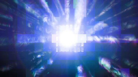 abstract funky disco light making effects and rays. perfect clip for club visuals or party/celebration