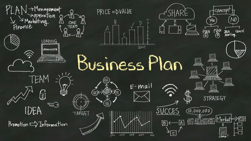 Handwriting Concept Of Business Plan Stock Footage Video