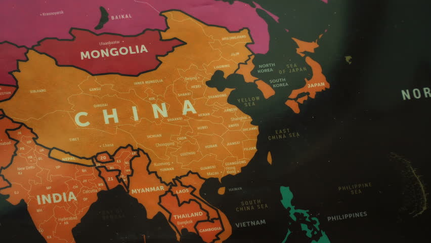 Map Of Asia Video.4k Asia On World Map Stock Footage Video 100 Royalty Free