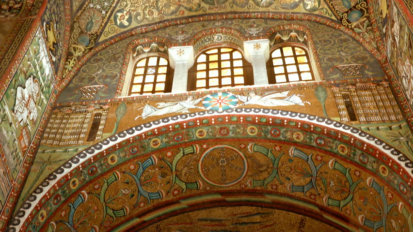 RAVENNA, ITALY - FEBRUARY 25, 2018: the American business magazine Forbes chose Ravenna and its mosaics as one of the 5 world destinations to visit in 2018