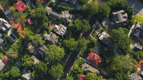 Atlanta Aerial v345 Vertical view flying low over Ansley neighborhood and Midtown area sunny 11/17