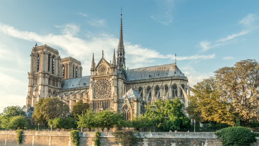 Notre-Dame Cathedral in Paris, France | Shutterstock HD Video #1008055885