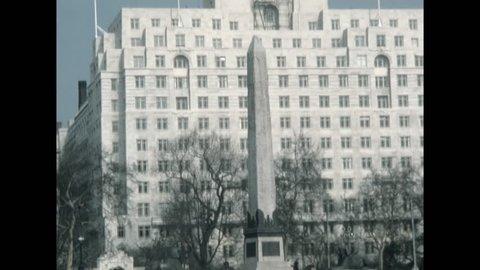 London, United Kingdom - 1978: Cleopatra's Needle obelisk