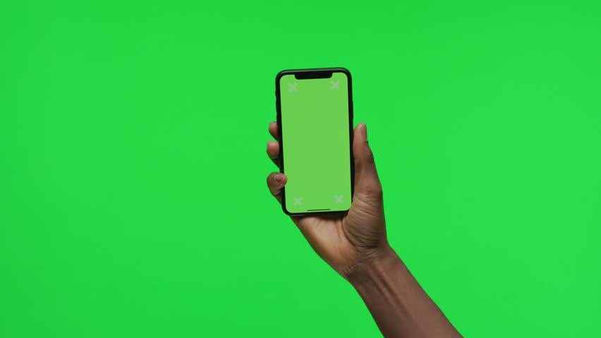 Female Hand holding Green Screen Smartphone | Shutterstock HD Video #1008261355