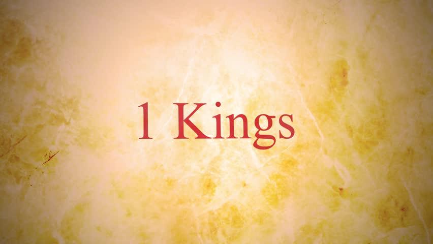 Header of 1 Kings