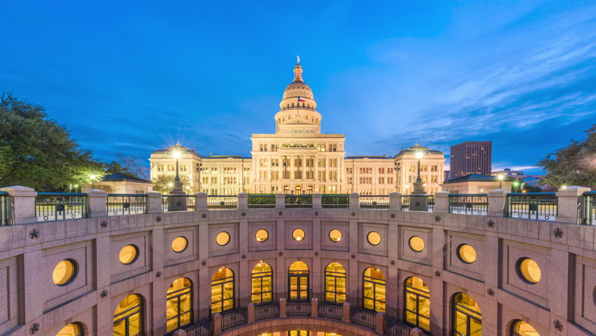 Austin, Texas, USA at the Texas State Capitol.