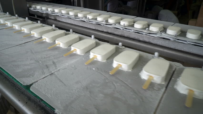 The conveyor automatic lines for the production of ice cream | Shutterstock HD Video #1008546445